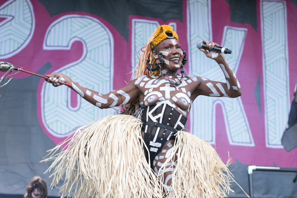 Grace Jones performs live on stage  at The Parklife by Lensi Photography