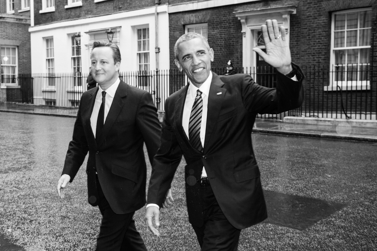 President Barak Obama UK Prime Minister David Cameron at Downing Street by Lensi Photography