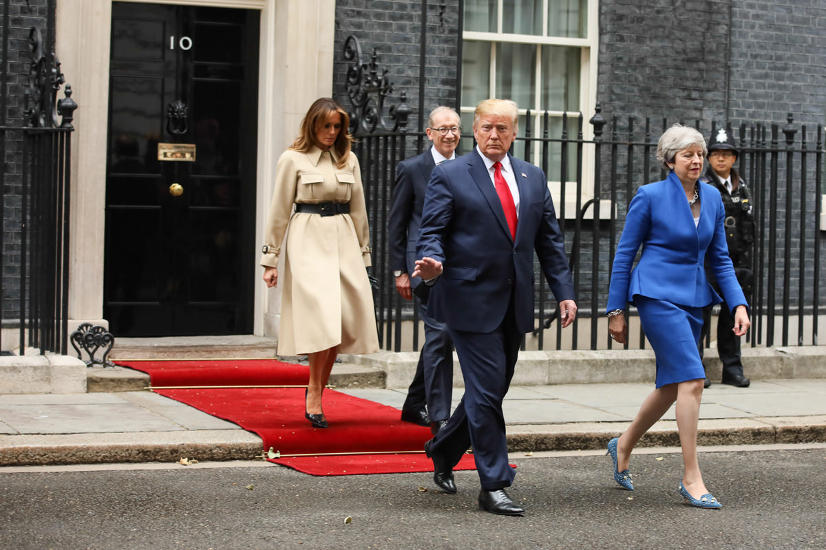 President Trump visits Prime Minister Theresa May at Downing Street by Lensi Photography